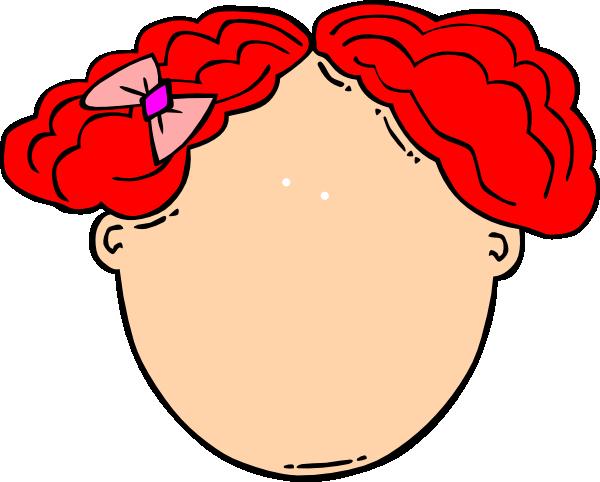 Red Hair Girl Blank Face Clip Art at Clker.com.