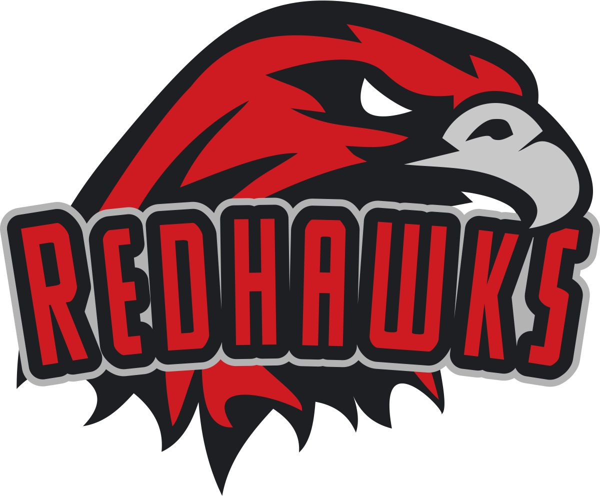 School Logo Design for REDHAWKS or RED HAWKS (if that helps.