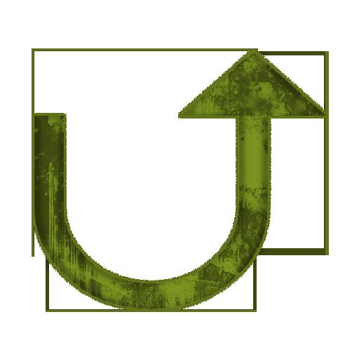 Redirect Up Arrow Icon #005239 » Icons Etc.