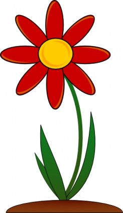 Red Flower clip art.