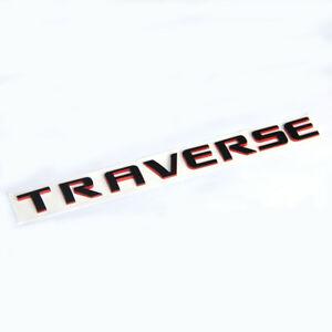 Details about 1x OEM Red Line TRAVERSE EMBLEM Badge 3D logo for Chevrolet  L1 Redline 20896270.