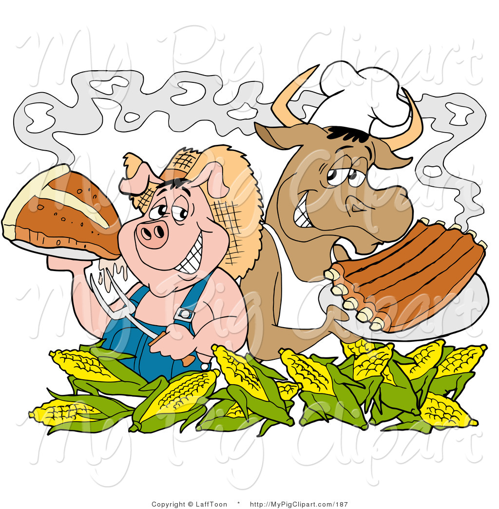 Royalty Free Stock Pig Designs of Ribs.