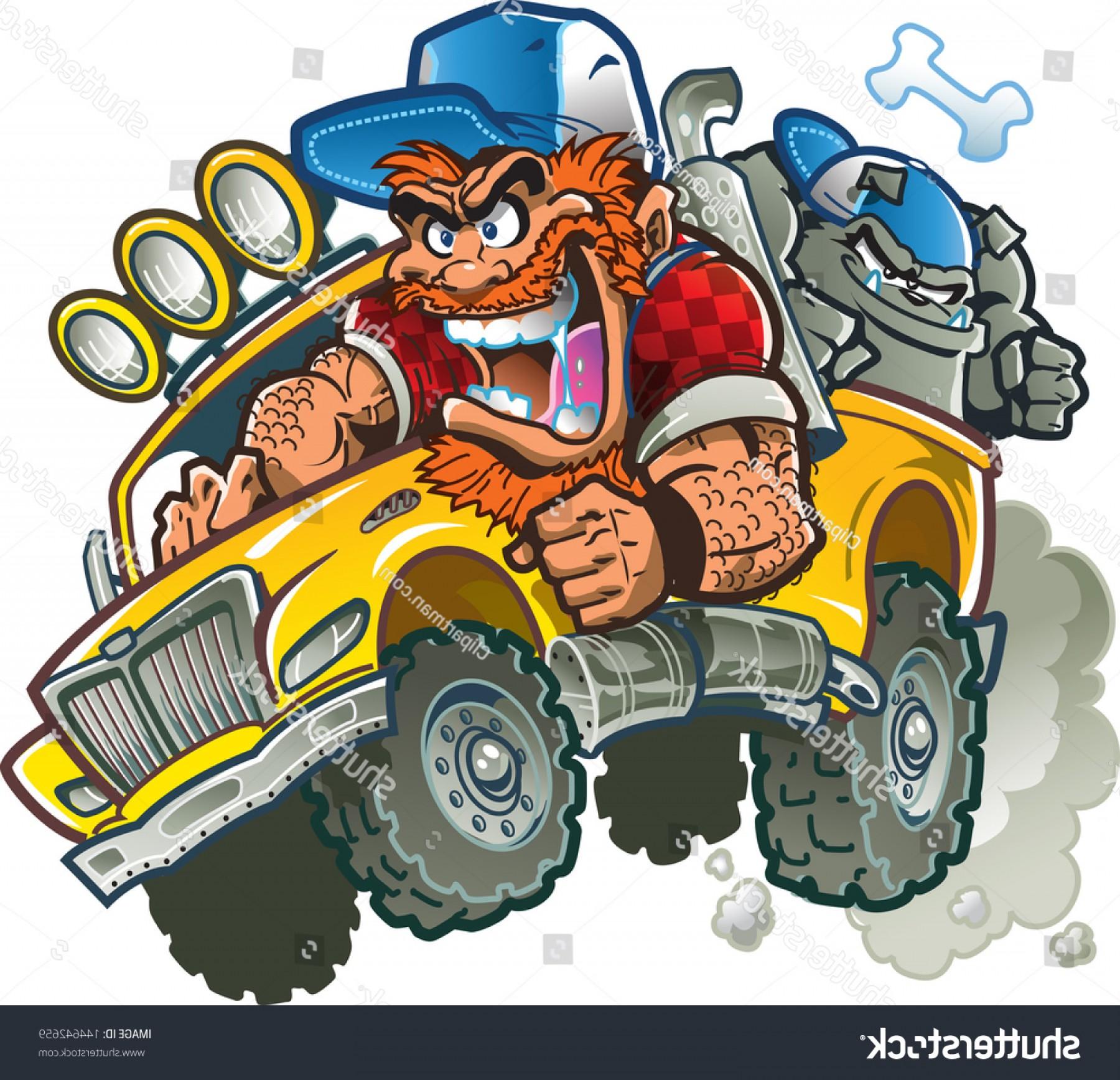 Wild Crazy Redneck Pickup Truck Trucker.