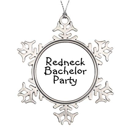 JackSY Xmas Trees Decorated Redneck Wedding Groomsmen One.