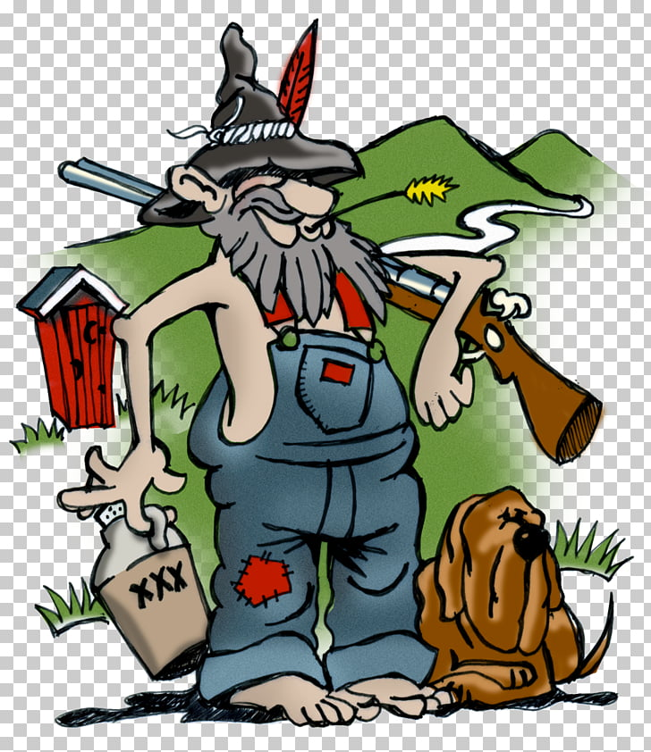 Maggie Valley HILLBILLY JAM Redneck, carton PNG clipart.