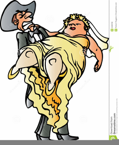 Redneck Bride And Groom Clipart.
