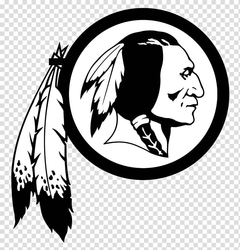 Washington Redskins NFL Decal Sticker Car, black and white.