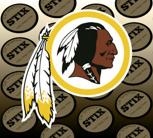 Details about Washington Redskins Logo NFL Die Cut Vinyl Sticker Car Window  Hood Bumper Decal.