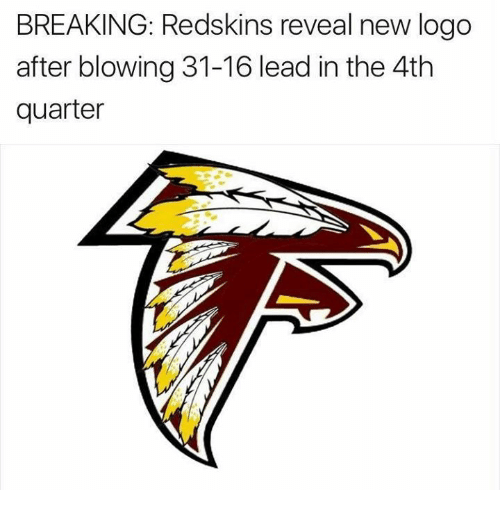 BREAKING Redskins Reveal New Logo After Blowing 31.