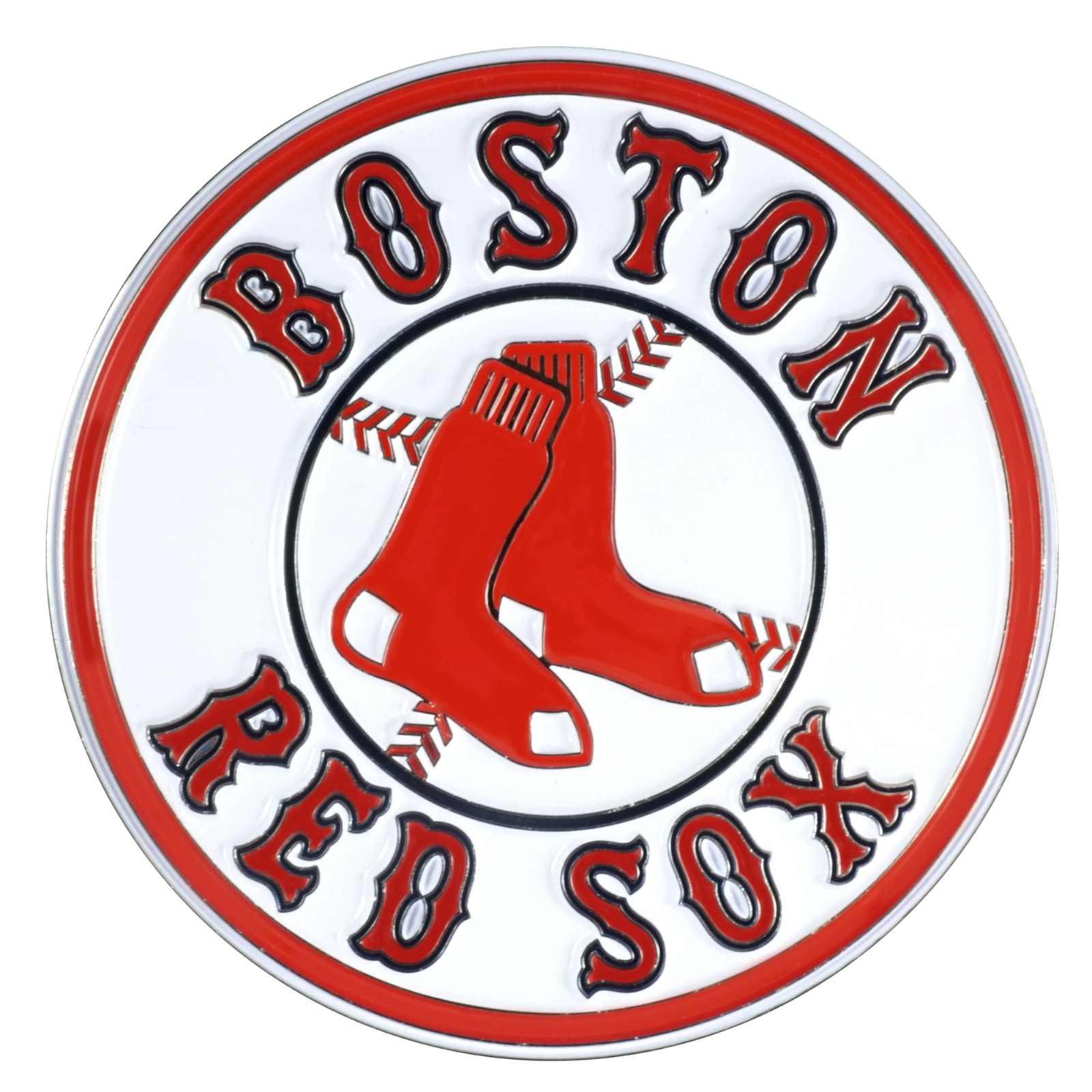 Details about Boston Red Sox Premium Solid Metal Color Raised Auto Emblem  Decal Baseball.
