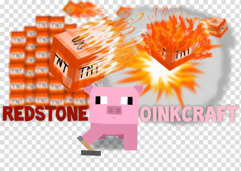 Redstone Oinkraft Server Logo transparent background PNG.