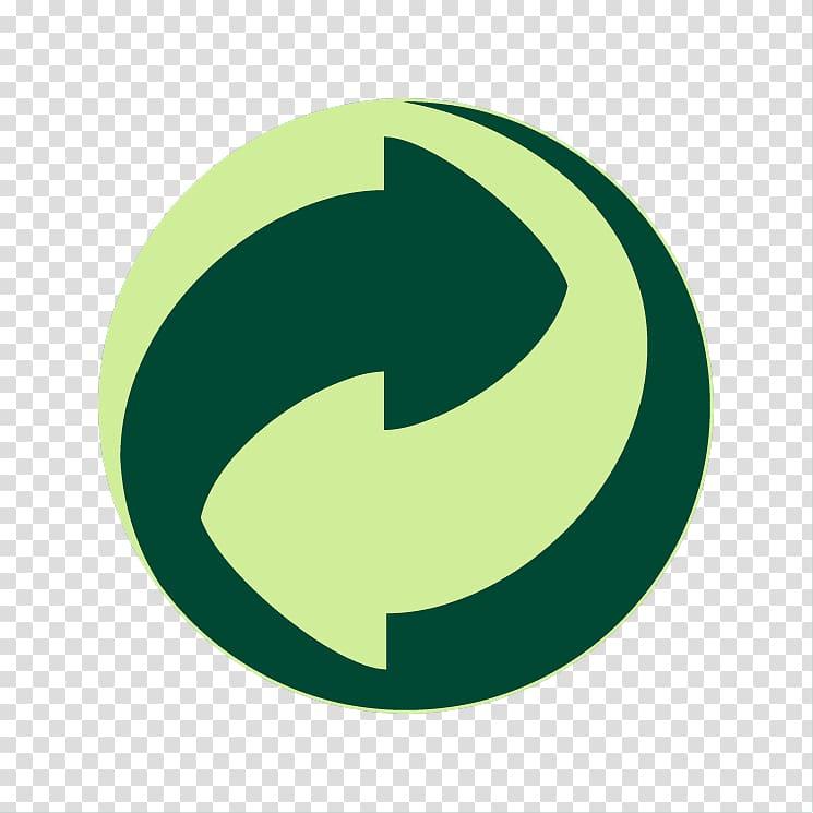 Green Dot Recycling symbol Logo, Reduce Reuse Recycle Symbol.