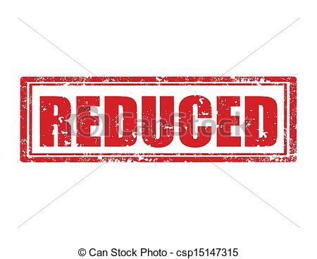 Vector Clip Art of Reduced.