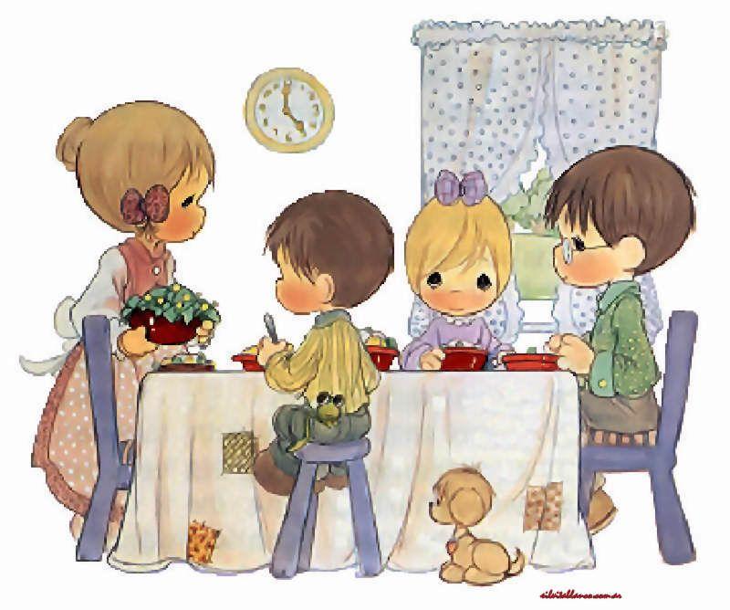 LA FAMILIA Precious Moments IMÁGENES PARA BAJAR TAMAÑO XL.