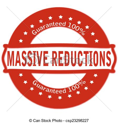 Vector Illustration of Massive reductions.