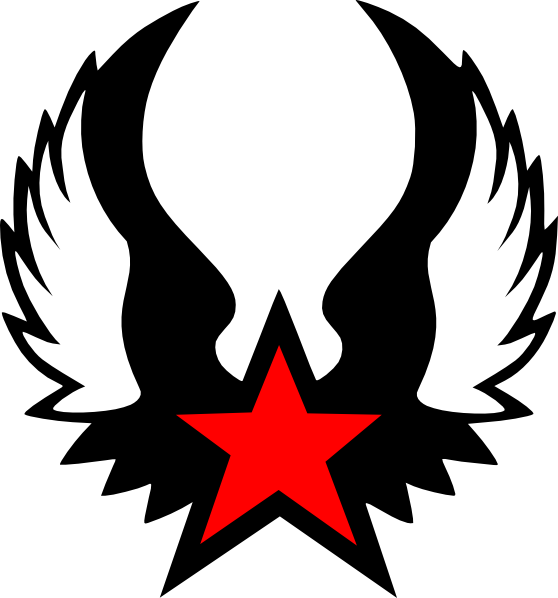 Red Winged Star clip art Free Vector / 4Vector.