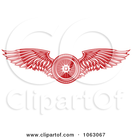 Clipart Red Winged Tire.
