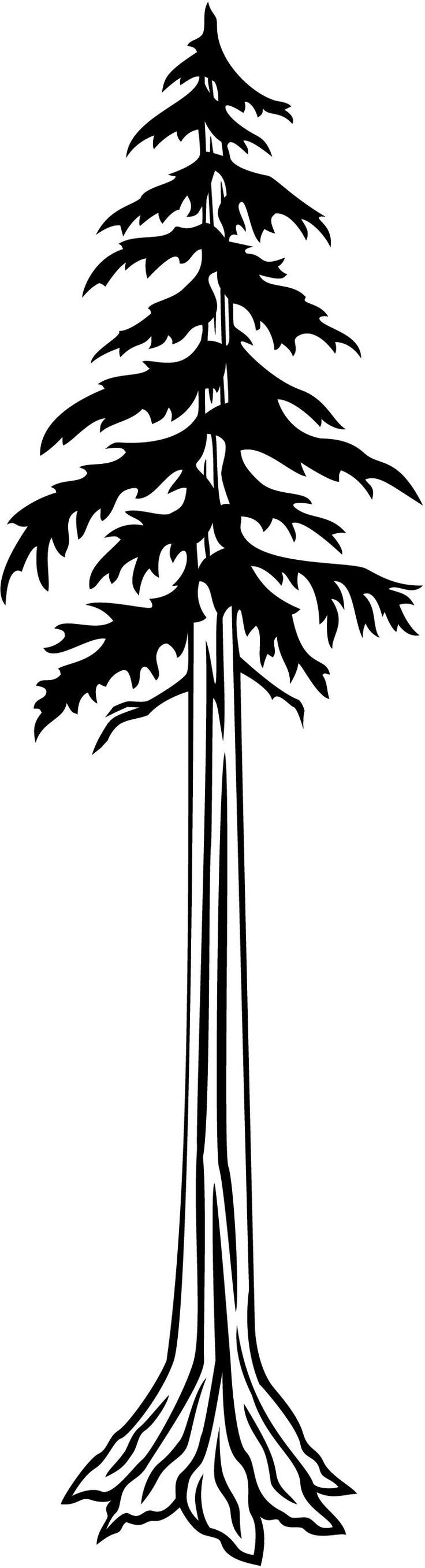 Redwood Tree Clip Art.