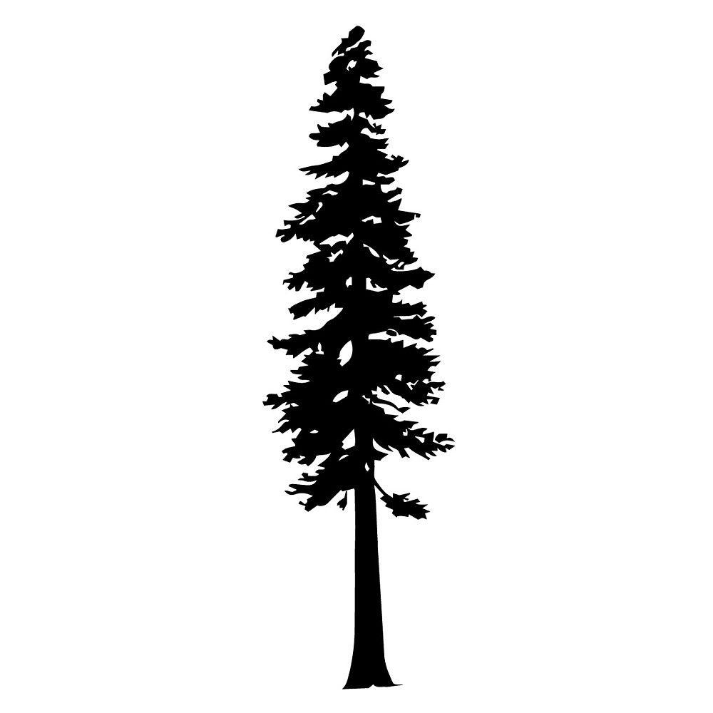 Redwood Tree Silhouette by katedill0n.