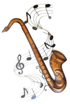 Metals, Saxophone and Metal walls on Pinterest.