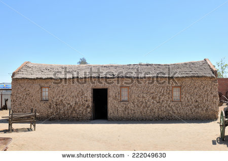 Historical Stone House Mud Plastered Walls Stock Photo 222049630.