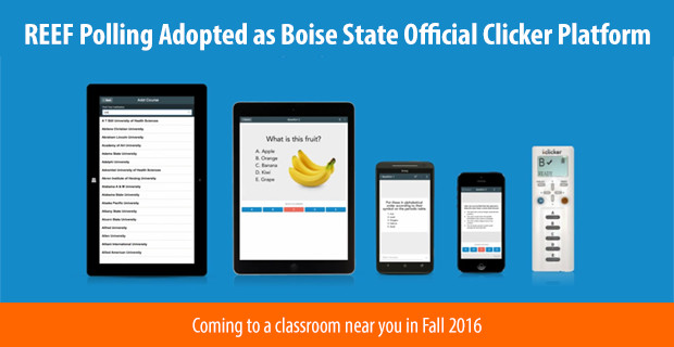 REEF Polling Adopted as Boise State Official Student Response.