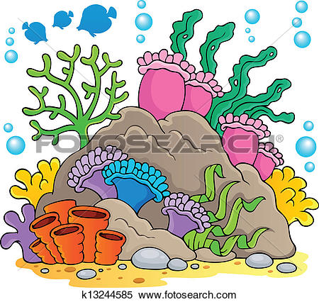 Clipart of Coral reef theme collection 1 k13244574.
