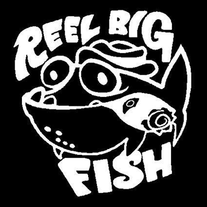 Amazon.com: 15.6cm16.4cm Reel Big Fish Cartoon Stickers.