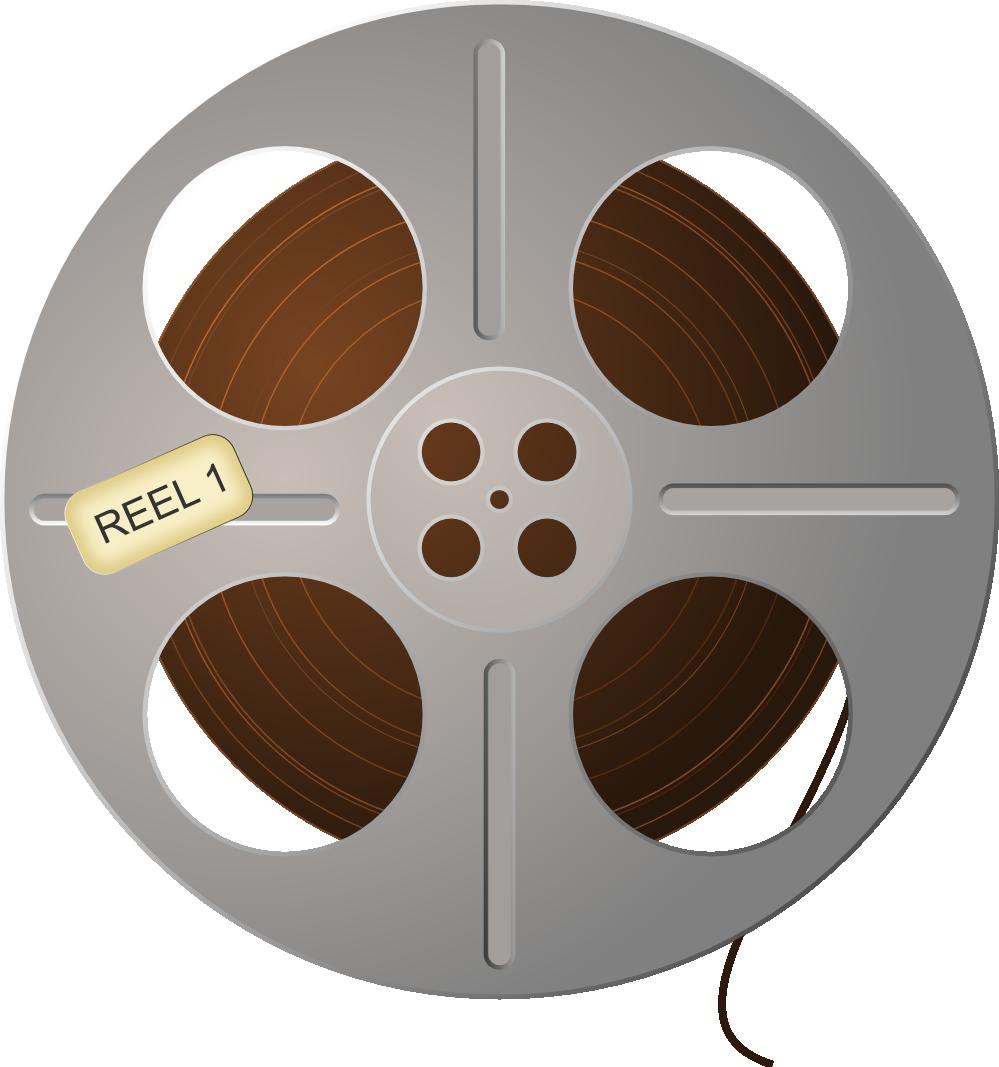 Movie reel film reel clip art image.