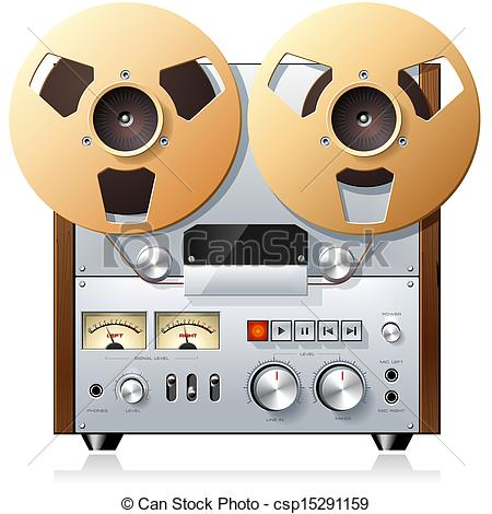 Stock Illustrations of Vintage Stereo reel.