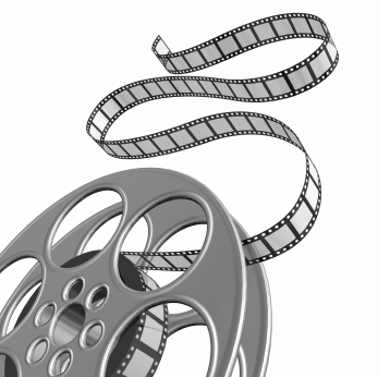 Movie reels clipart 2.