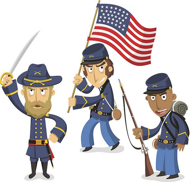 Civil War Reenactment Clip Art, Vector Images & Illustrations.