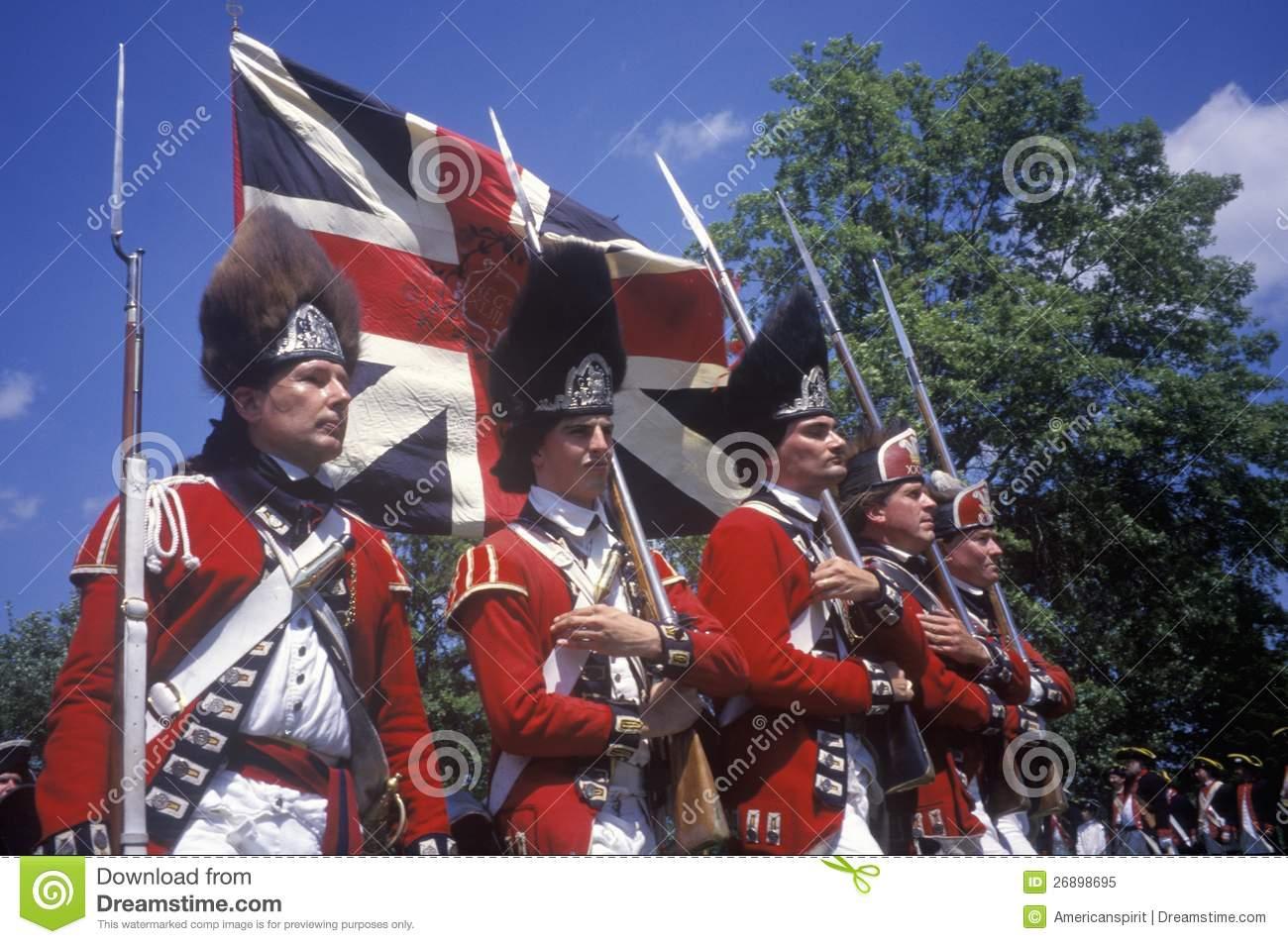Revolutionary War Reenactment, Editorial Image.