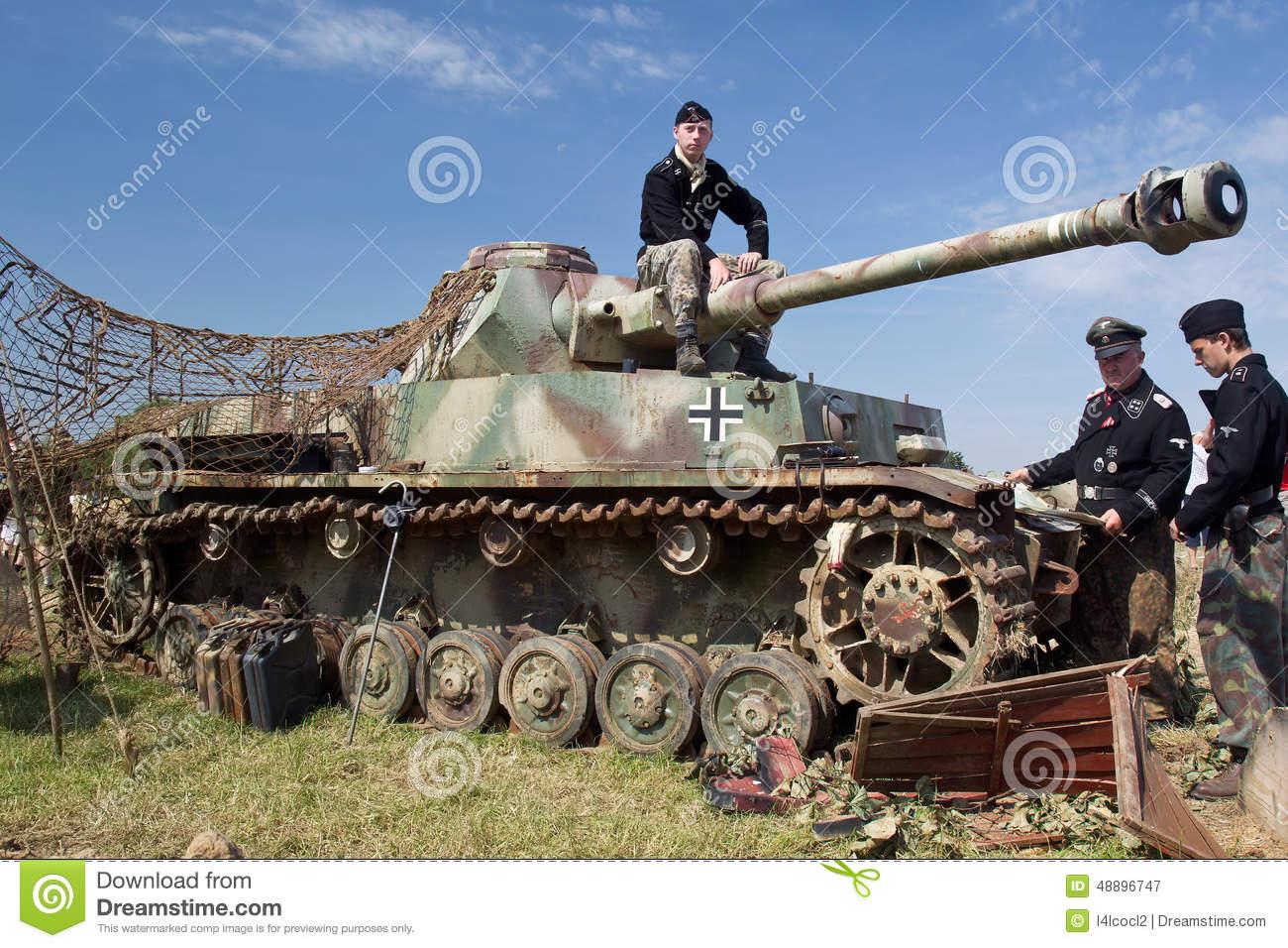 Panzer III Reenactment Editorial Photography.