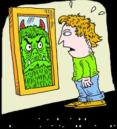 Clipart mirror reflection.