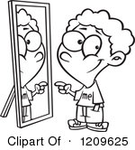 Mirror reflection clipart.