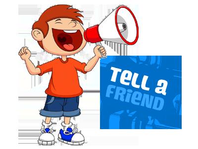 Tell A Friend Clipart.