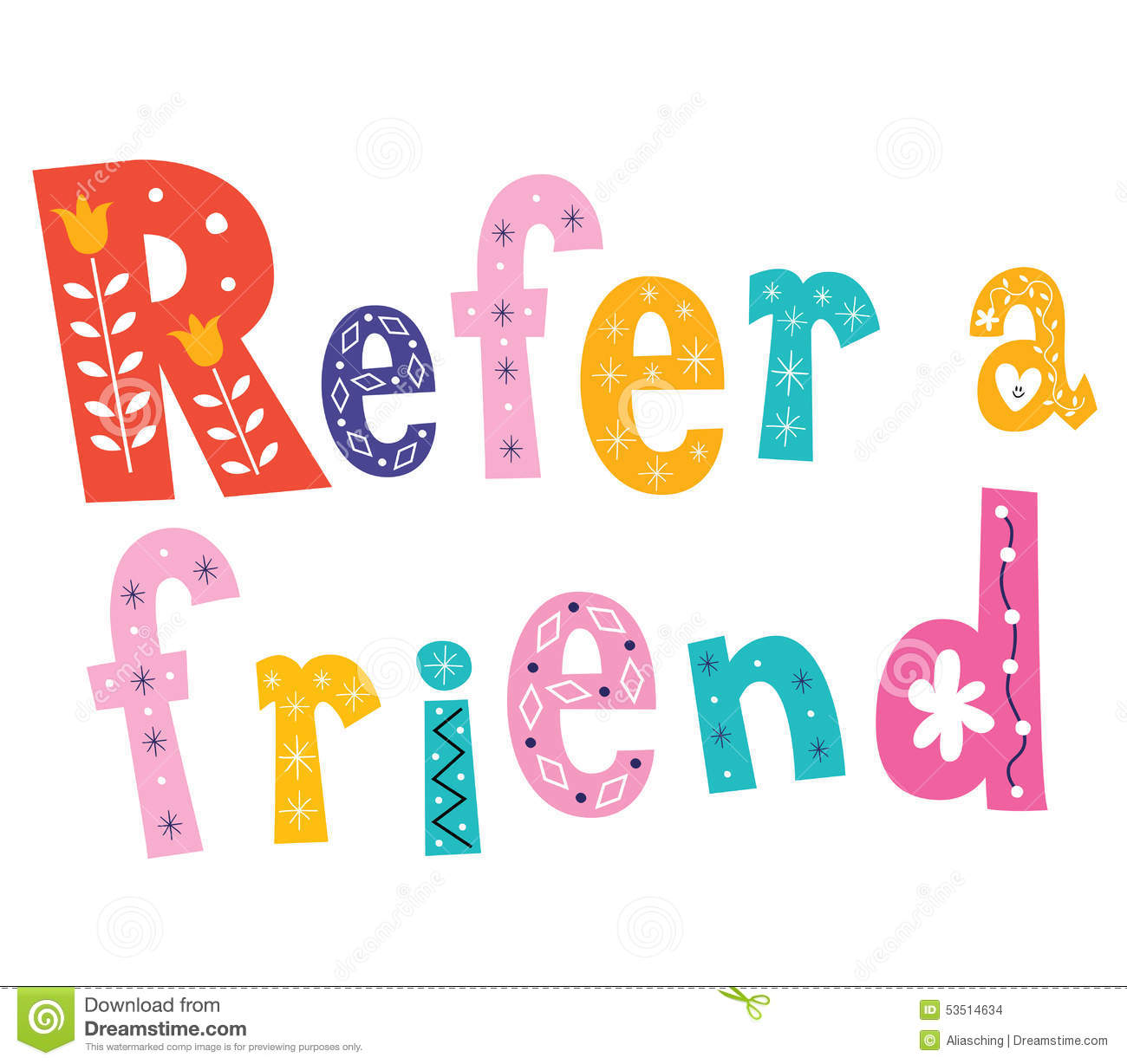 Refer A Friend Clipart.