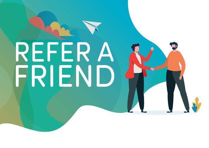 Recruitment. Refer a friend vector illustration..