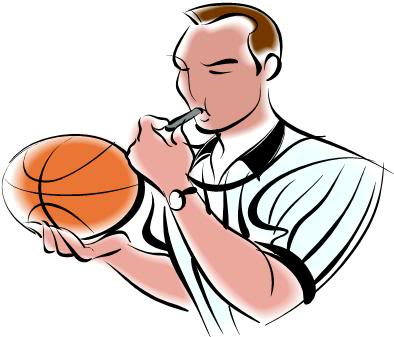 Basketball referee clipart.