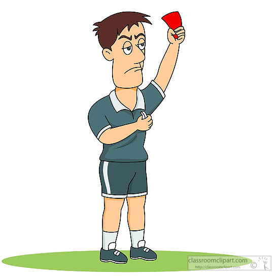 Soccer referee clipart.