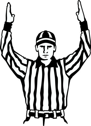 Football referee clipart free.
