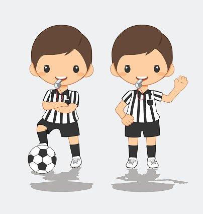 illustration of soccer referee Clipart Image.