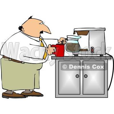 Getting a Cup of Coffee Clipart © Dennis Cox #5006.