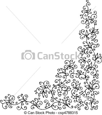 Clipart Vector of Refined vignette CCXXXI.
