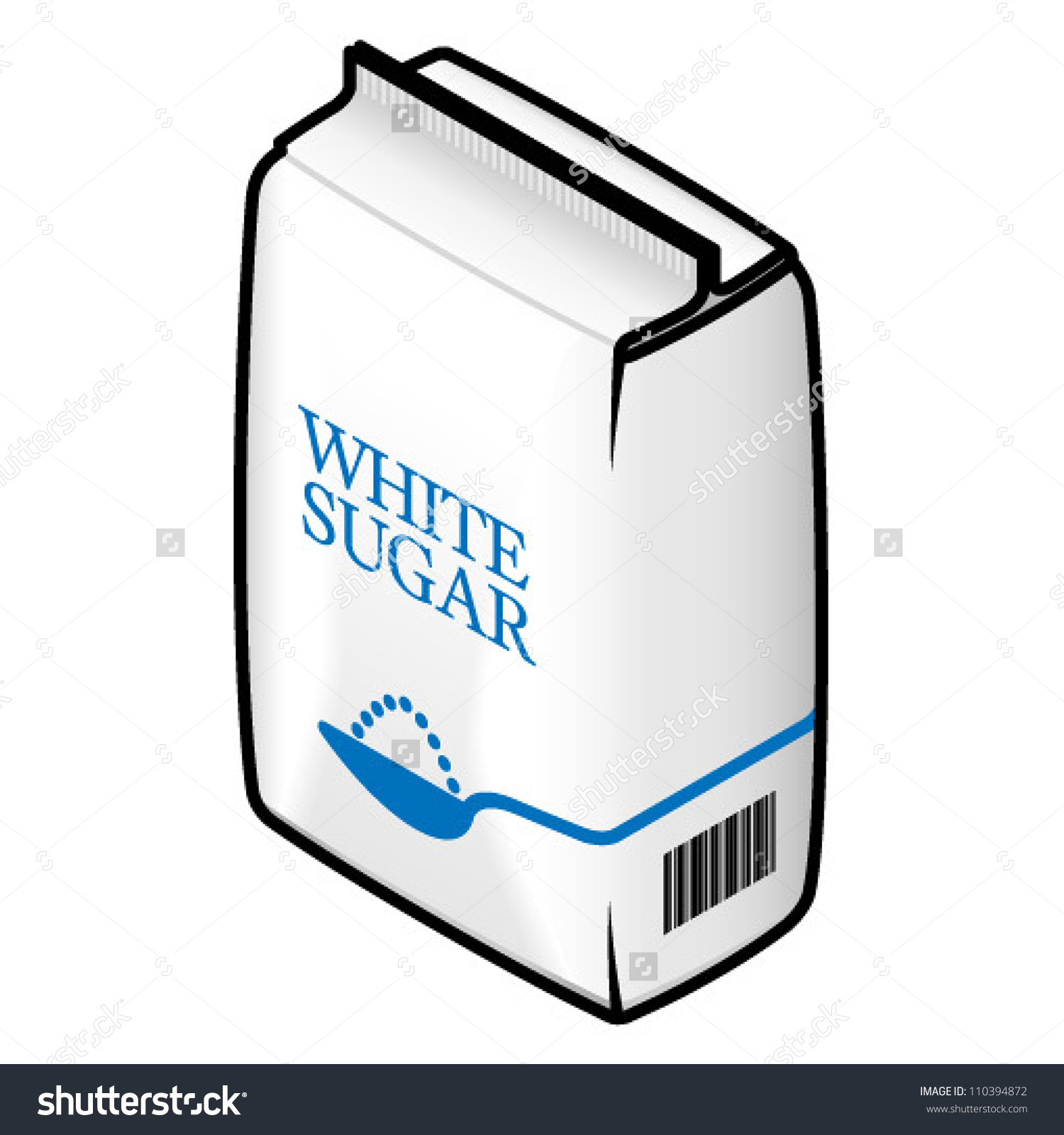 Bag White Refined Sugar Stock Vector 110394872.