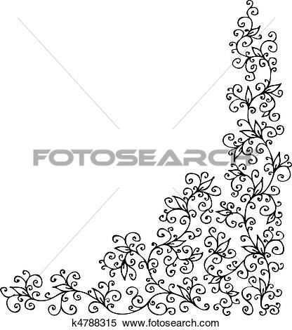 Clipart of Refined vignette CCXXXI k4788315.
