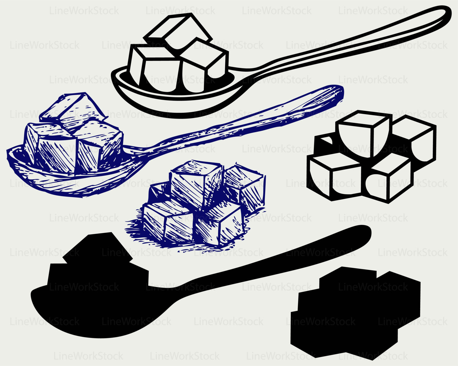 Refined sugar svg,sugar clipart,refined sugar svg,silhouette,food.