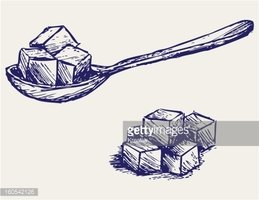 Refined White Sugar stock vectors.