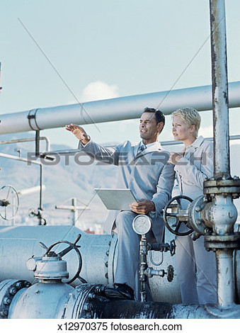 Refinery people clipart.